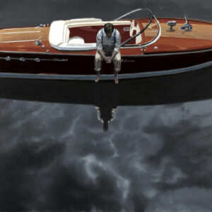 Afloat Riva by Iain Faulkner-Mounted