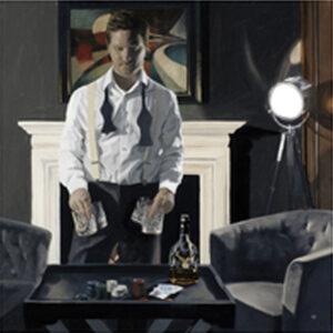 Poker Night by Iain Faulkner-Mounted