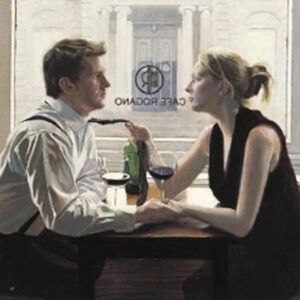 Romantic Lunch by Iain Faulkner-Mounted